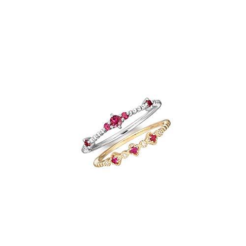 Socoz Mujer Unisex Oro, 18 kt redonda Red Ruby