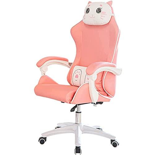 JNOIHF Silla de oficina en casa ergonómica, silla de escritorio ejecutiva grande y alta, tapicería de tela de alta capacidad de alta capacidad 360 ° silla de tarea giratoria altura ajustable con repos