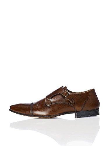 Find. Zapatos estilo Monje Doble Hebilla Hombre, Marrón