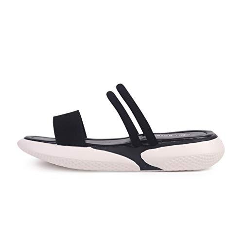 Zomerkleding, dames-sandalen in feeënstijl, nachtkastje, modieus, strand, vakantie overdag, waterdicht platform, twee kledingstukken met een zool, sandalen en zomerschoenen.