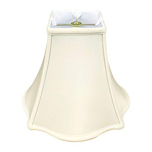 Royal Designs Inc BSO-702-10EG Fancy Square Bell Basic Lamp Shade, Eggshell