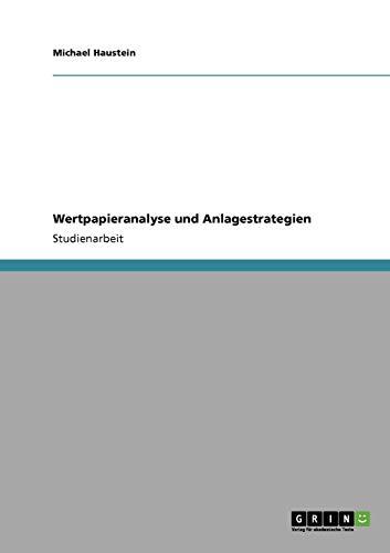 Wertpapieranalyse und Anlagestrategien
