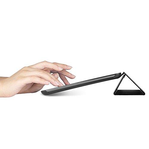EasyAcc Ultra Slim Hülle für Samsung Galaxy Tab A 9.7 - mit Standfunktion und Automatischem Schlaf Funktion PU Leder Hülle - Schwarz