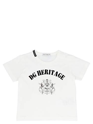 Luxury Fashion | Dolce E Gabbana Baby-jongens L1JT6SG7VGVW0111 Wit Katoen T-shirts | Lente-zomer 20