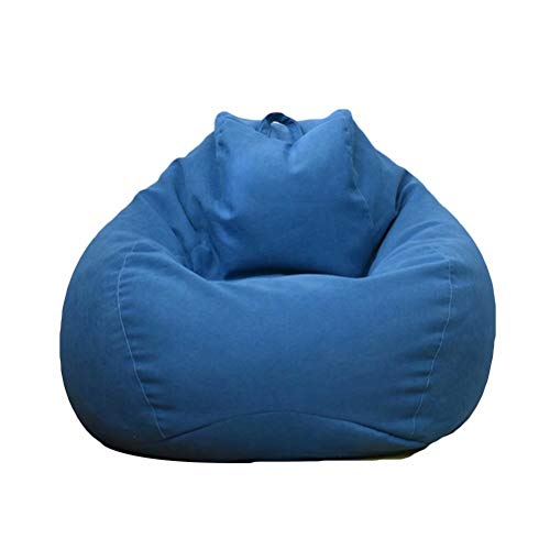 ビーズクッション 特大 ソファー 座布団 座椅子 人をダメにするソファ 無地 疲労を軽減 洗えるカバー 90*110cm (ブルー)