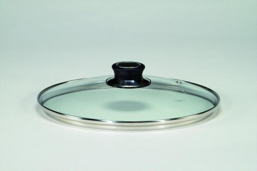 Glasdeckel Diamant mit Edelstahlschutzrand, Ø 28 cm