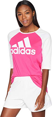 adidas Athletics Sport ID Baseball tee Manga Corta, Real Magenta/White, M para Mujer