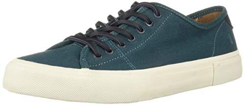 Frye Men's Ludlow Low Sneaker, Teal, 7.5 M