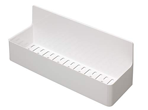 東和産業 浴室用ラック ホワイト 約28.3×9.4×11.2cm 磁着SQ マグネット バスポケット ワイド 39208