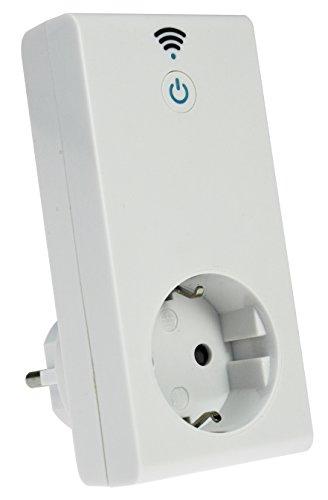 as - Schwabe W-LAN-stopcontact, bestuurbaar via internet via smartphone-app, Android en iOS, intelligent Smart-Home schakelstopcontact, 1 stuk, wit