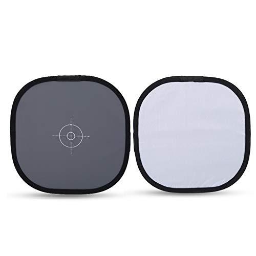 30 cm faltbare 18% Grau-Weißabgleich-Referenzkarte mit Taschenfotografie-Zubehör, faltbare Grau-Karten für Weißabgleich in der Kamera oder Weißabgleich nach der Verarbeitung