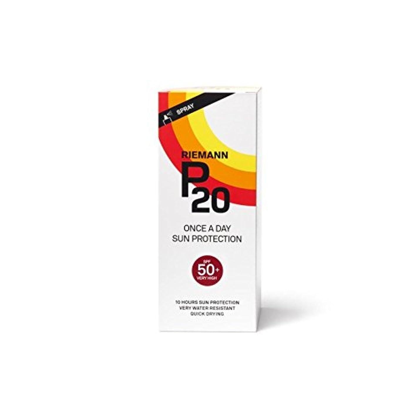 危険スラダムはさみRiemann P20 Once a Day Sun Filter 200ml SPF50+ (Pack of 6) - 一日の日に一度リーマン20は、200ミリリットル50 +のをフィルタリング x6 [並行輸入品]