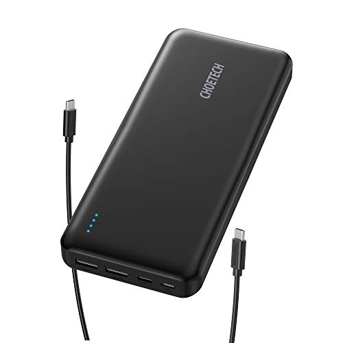 USB C Power Bank, CHOETECH 20000mAh USB C Portable Charger 45W Power Delivery Battery Pack (Type C 45W Output 30W Input) for iPhone 11/11 Pro/Galaxy S20/S10/MacBook Pro/Type-C Laptop/Nintendo Switch