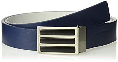 adidas Golf 3-Stripes Solid Reversible Belt, Collegiate Navy/Grey Two, One Size