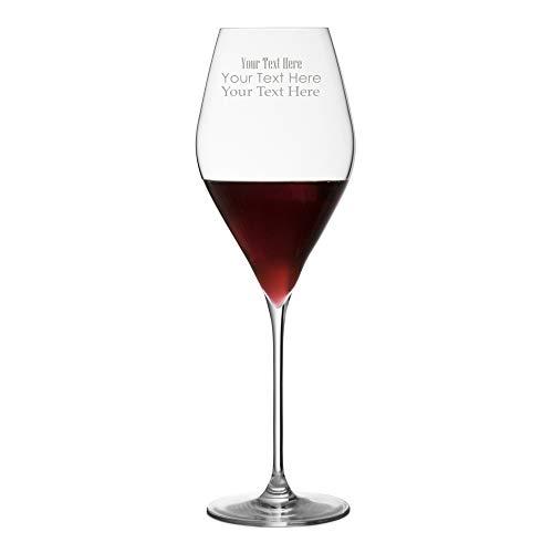 TUFF LUV M223 Bacci Cristal Verres à Vin Rouge Séries Personnalisés Gravé, Verres à Pied/Vin Verre, Transparent, 430ml