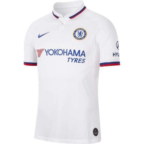NIKE 2019/20 Stadium Away Camiseta Equipación Chelsea FC 19-20, Hombre, White/Rush Blue, XL