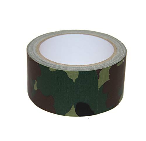 Bindulin 10 Meter Panzerband Farbe Camouflage Tarnfarbe Gewebeband Gafferband besonders fest - Flecktarn Army Camoflage Klebeband 50mm x 10 Meter
