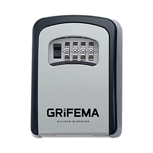 GRIFEMA Cassetta di Sicurezza per Chiavi, Cassaforte Portatile, 4 Cifre [Exclusiva Amazon]