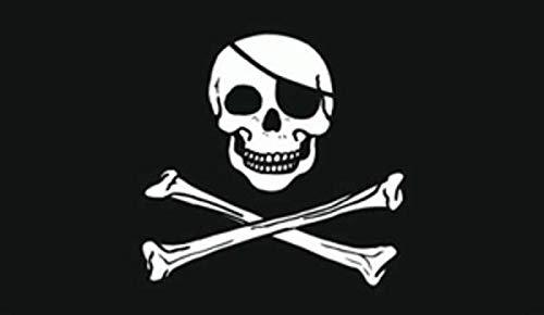 "TrendClub100® Fahne Flagge ""Pirat Piraten Jolly Roger"" - 150x90 cm / 90x150cm"
