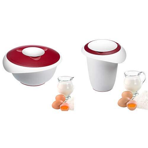 Westmark Rühr-/Backschüssel mit Spritzschutz, Deckel und Ausgießer, Kunststoff & Quirltopf mit Spritzschutz, Deckel und Ausgießer, Kunststoff