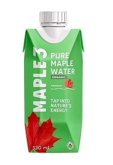 Maple3 - Acqua d'acero - 6 x 330ml - Maple Water Original - Maple sap
