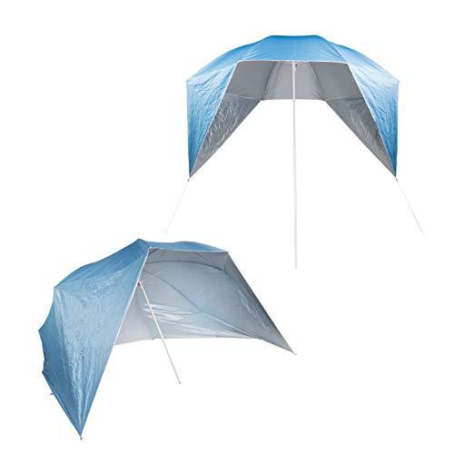 Benelando® Sonnenschirm mit Seitenteilen UV 50+ Strandmuschel