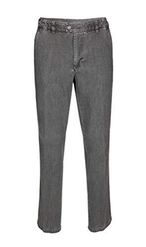 Brühl - Comfort Fit - Herren Flatfront Hose mit Spezialbund, Pavia Tr (0021003163100), Größe:28, Farbe:Grau (940)