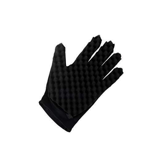 Gants éponge,Fulltime 1pc Mode Curls enroulement Magic Tool Wave Barber cheveux brosse éponge gants (A)