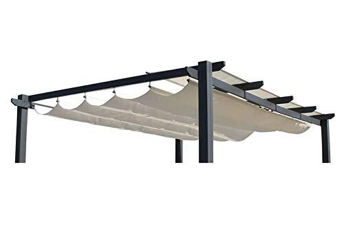 OUTFLEXX Ersatzdach für LECO Pergola, Creme, Polyester, wasserabweisend, 390 x 316 cm