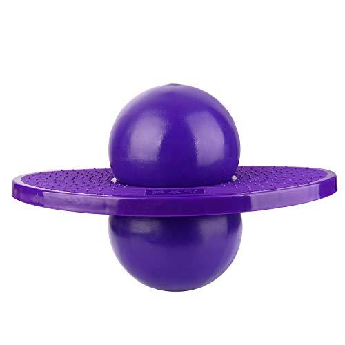 ZYAQ Small Pogo Ball with Pump, Space Hopper Bouncing Ball for Kindergarten Kids Children (Purple)
