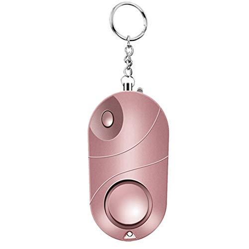 MSQL Alarma de Seguridad Personal, Sirena de Llavero de Seguridad de Emergencia 130 DB, Seguridad antirrobo con Mini Linterna LED para Mujeres, niños y Ancianos,Pink