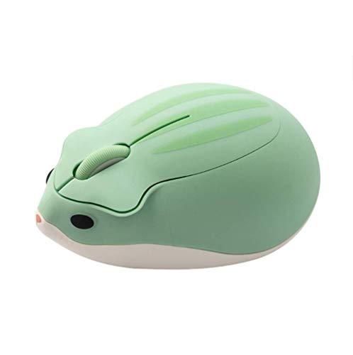 LONGHAIYUAN Lindo Ratón Inalámbrico De Dibujos Animados Ratón Óptico USB para Ordenador 1200 dpi Diseño De Hámster Ratón De Mano Pequeño Ratón para Ordenador Portátil para Niña Y Niño