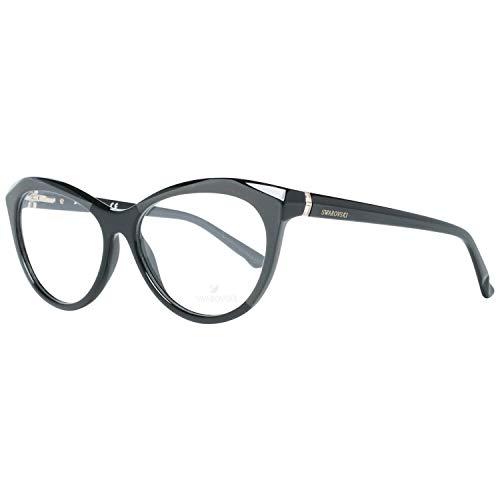 Swarovski SK5192 56001 Brillengestelle SK5192 001 Cateye Brillengestelle 56, Schwarz