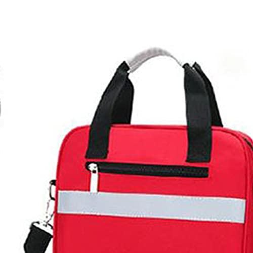 Erste hilfe set Outdoor Erste-Hilfe-Kit Rote Nylon Wasserdichte Sports Kreuz Messenger Bag Familienreisen Notfalltasche (Color : Red)