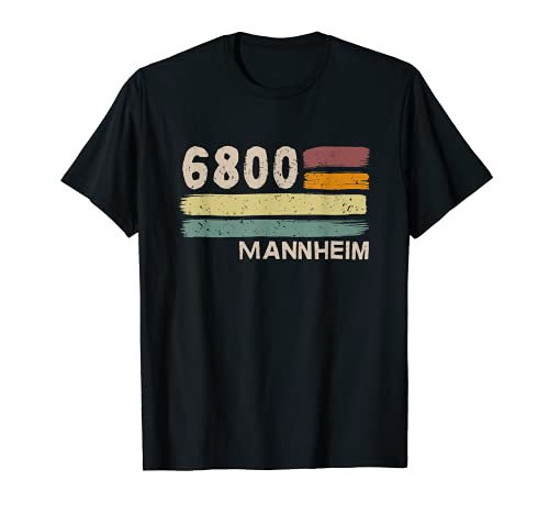 6800 Mannheim Retro Postleitzahlen Alte PLZ Vintage T-Shirt
