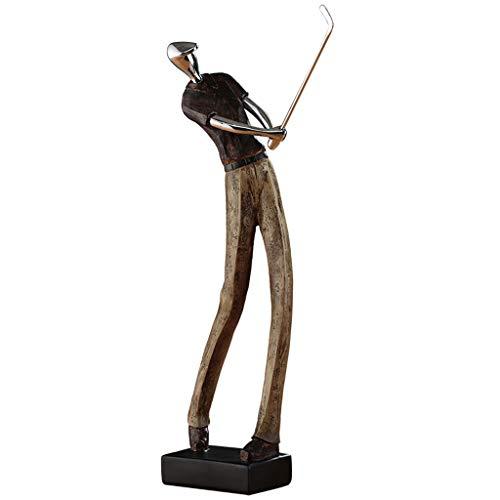JIEYANG LSNtanyx Escultura de Golf Personaje Adorno Salón TV Gabinete Vinoteca Decoración Oficina Estantería Estantería Adorno
