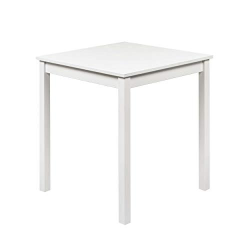 hagge home Esstisch Küchentisch Klein Tisch Wohnzimmer Nordisches Kiefernholz Massivholz, Holz Aus Nachhaltiger Waldwirtschaft, 68x68 cm, Höhe 75 cm, Weiß