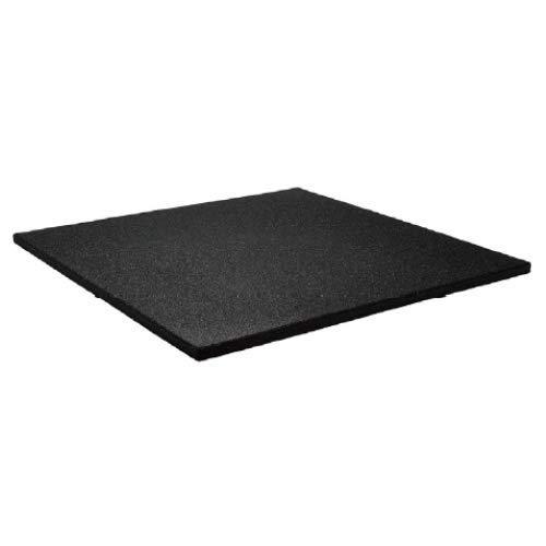 IVOL sportvloer - tegel 100x100cm - 20mm - fijne korrel - zwart