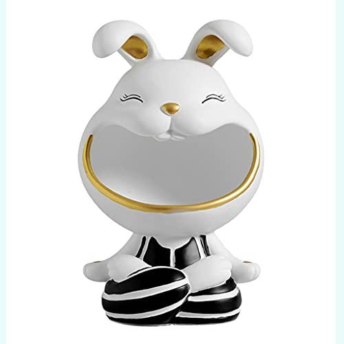 Bandeja Llave Bandeja Joyería Linda Rabbit Resina Escultura Entrada Clave Almacenamiento Tazón De Escritorio Dulces Cuenco Salón Salón Decoración De Almacenamiento Decoración De Escritorio Hogar Decor