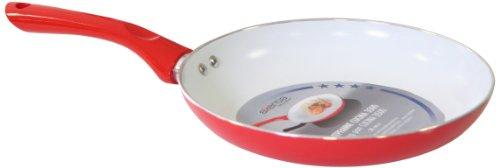 axentia Bratpfanne Cucina in Rot, Aluminium-Pfanne für alle Herdarten, Induktionspfanne mit weißer...