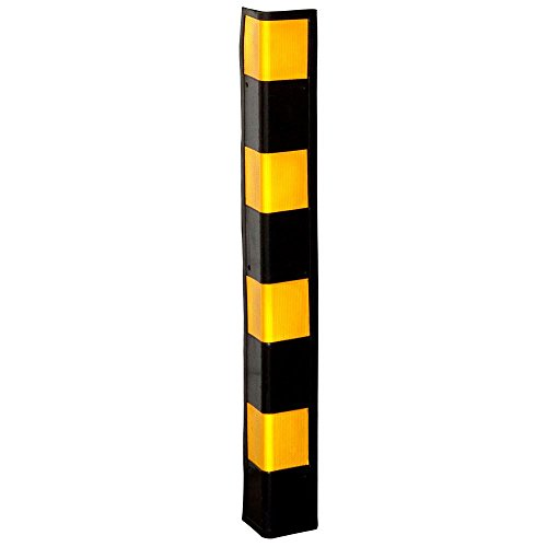 """Rage Powersports 34"""" Rubber Wall Corner Guard for Parking Garages & Warehouses"""