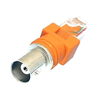 10pcs BNC Female to RJ45 Male Coaxial Coax Barrel Coupler Adapter RJ45 to RF Connector