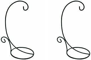 Black Lantern Hook/ Air Plant Stand/ Flower Pot Stand Holder Set of 2 (Large)