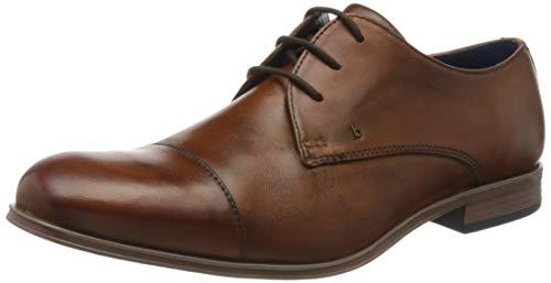 Bugatti 311902044100, Zapatos de Cordones Derby para Hombre, Marrón (Cognac 6300), 40 EU