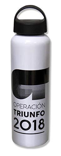 Operación Triunfo Botella Aluminio 600 Ml Blanca, Adultos Unisex