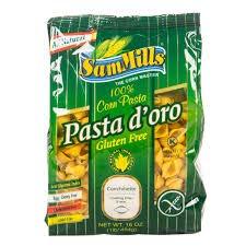 Sam Mills GLUTEN FREE Pasta D'oro SHELLS (100% Corn Pasta) 12 oz/bag (3 BAGS)