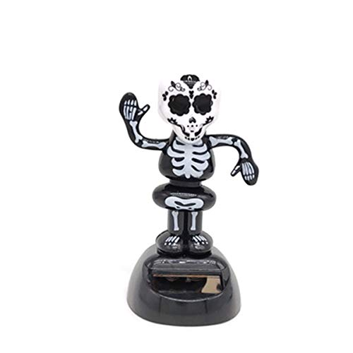 Amosfun Wackelkopf Schädel Geist Figuren Wackelfiguren Druckfigur für Halloween Auto Armaturenbrett Dekoration