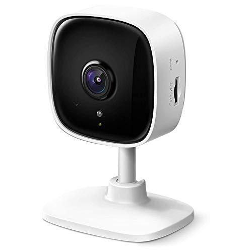 HDHUIXS Cámara WiFi de Seguridad para el hogar Inteligente, Registros en 1080p (Full HD), hasta 30 pies de visión Nocturna, hasta 128 GB de Ranura de Tarjeta microSD