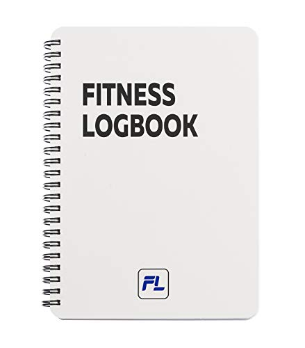 Fitness Logbook Lite: Undated Workout Journal - 6 x 8 inches - Thick Paper, Durable Laminated Cover, Round Corners, Sturdy Binding - Stylish, Minimalistic and Easy-to-Use Gym Log Book