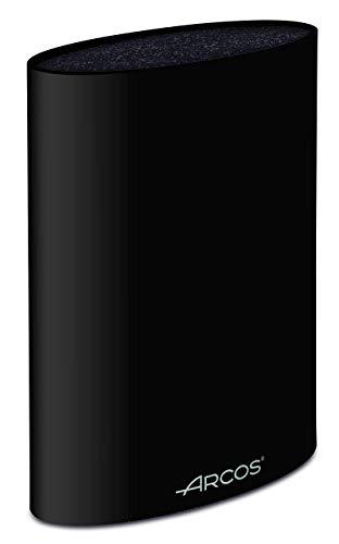 Arcos Tacos, Bloque Universal para Cuchillos hasta 20 cm, Hecho de Caucho Termoplástico 220 x 160 x 65 mm, Color Negro